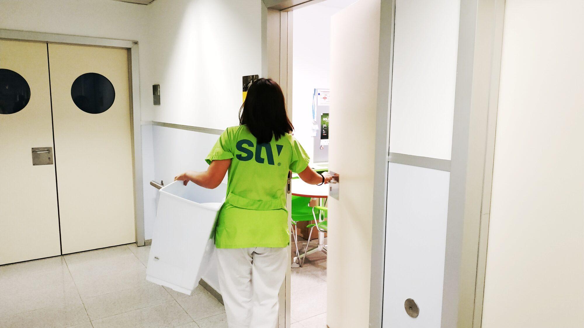 Gripe limpieza hospital
