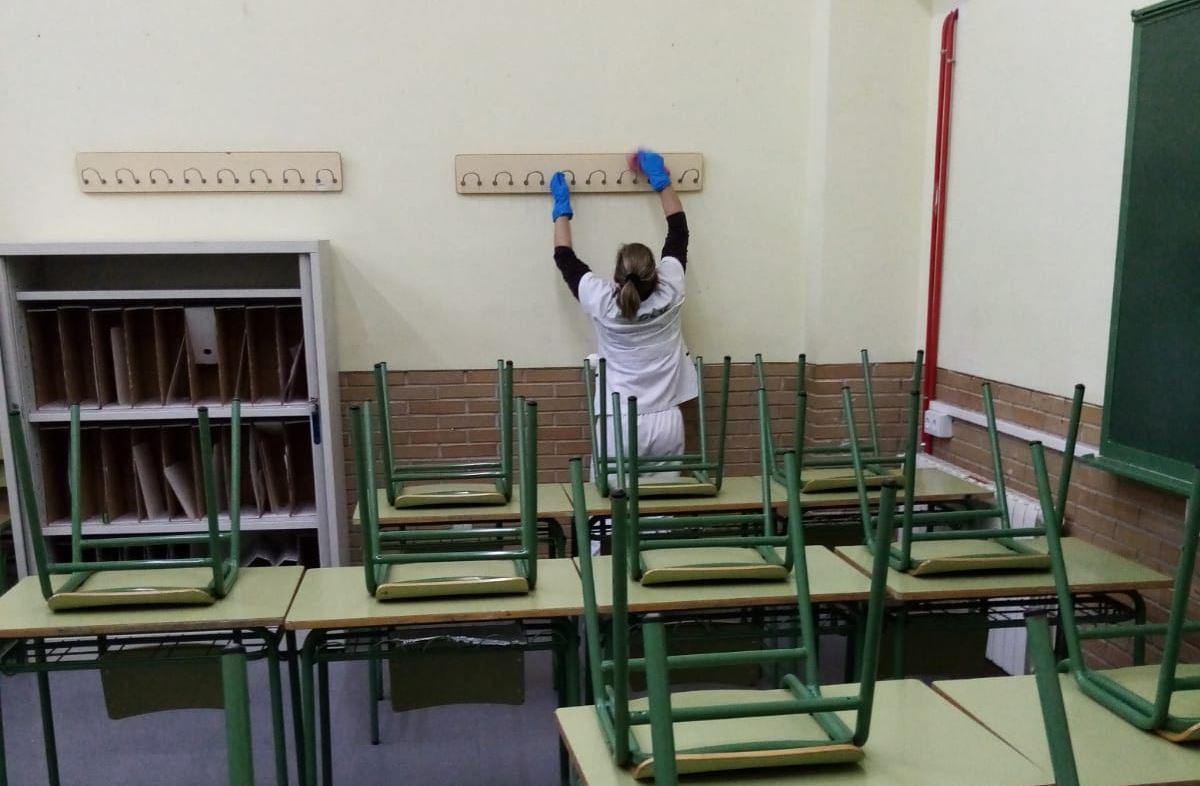 Protocolo limpieza STV Gestión centros educativos